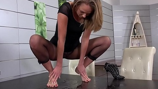 Sexy Girl Peeing - Wet Pantyhose and Hot Masturbation