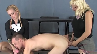 Chicks poke dudes anal with oversized strapon dildos and about with past master hallow juice