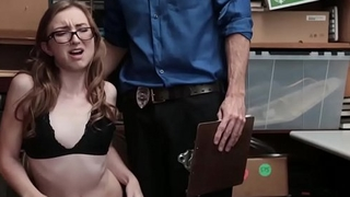 Gracie May Green deep throat blowjob the LP Officers cock!