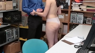 Shoplyfter Violet Rain got her pussy fuck doggy by the horny LP Officer!
