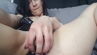 Angie Glampanties stuffing those sexy panties deep inside wet pussy