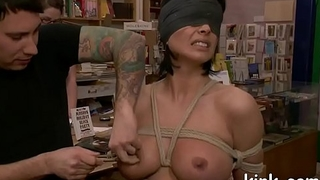 Busty sexy hot girl submits to torment and anal thraldom sex.