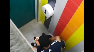 Caught wanking in public toilet