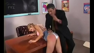 Naughty schoolgirl gives sexy blowjob and gets screwed hard