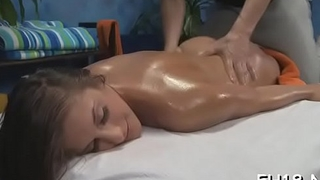 Babe with a consummate ass fucked by massage therapist