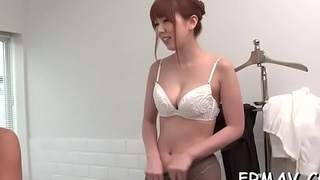 Lovely japanese babe fingers and toys her sexy beaver