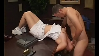 Captivating teacher gives a sexy oral stimulation and fingers pussy