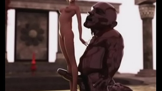 3D Slender Girl vs Fat Ogre