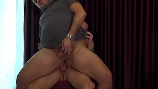 Raw dicked daddy wants to please his skilful twink lover