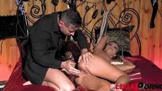 Athletic BDSM vixen Vicky Love dominated to the extreme in chamber of pain GP305