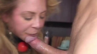 Blonde Milf officer rough anal banged