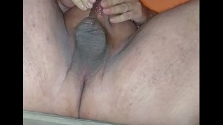 Cumming 3 times from my hypospadias cock