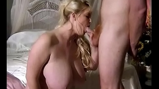Big Tit Blonde MILF Sucks