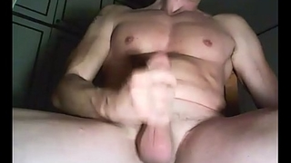 upper case husky Italian hunk playing with his fat uncut penis part 2