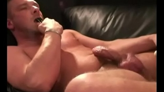 Jeremy Stroking His Cock