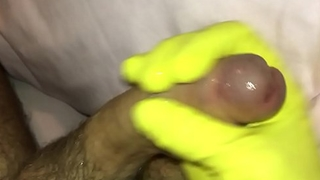 Kinky squelching masterbation until cum slowly oozes....
