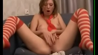 School Girl Undress and pussy fingering