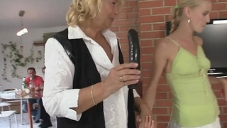 Happy birthday leads to mature pussy toying and old cock sucking