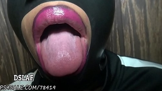 THIS IS DSLAF - Rebel'_s Aunt Gives Latex Mask Sloppy Head