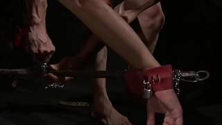 Bigass slave spanked before cocksucking