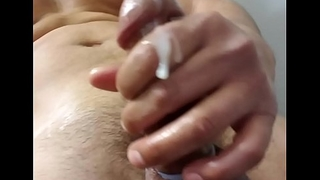 Bored rubbing my cock