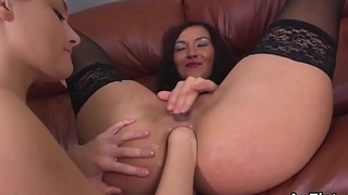 Sexy lesbian babes are opening about and fist fucking anal holes